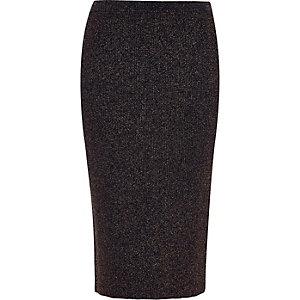 Navy sparkly stretch pencil skirt