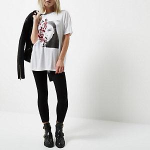 Zwarte jersey legging voor kleine maten