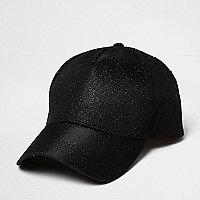 Black glitter cap