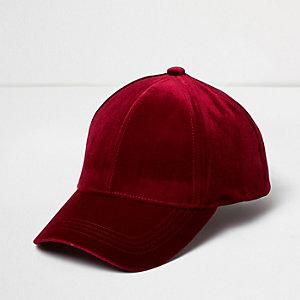 Burgundy velvet cap