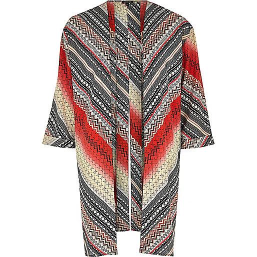 Gelber, bedruckter Kimono