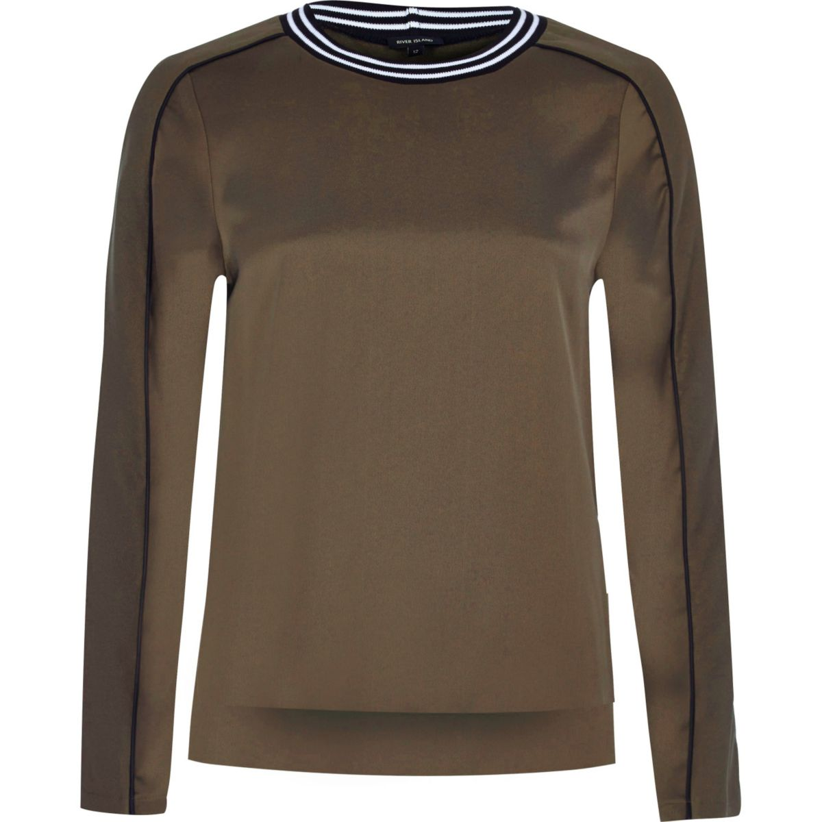 Khaki tipped sweatshirt
