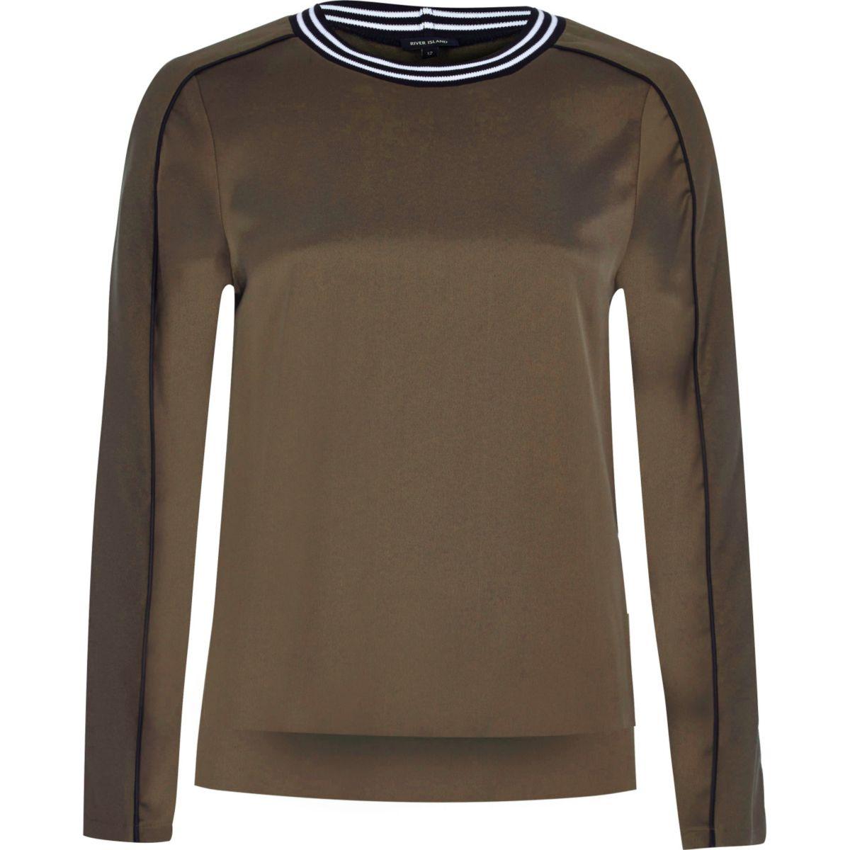 Pullover in Khaki