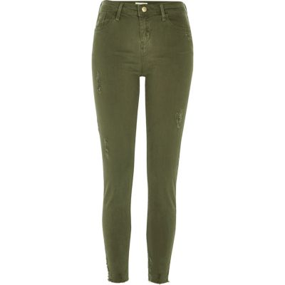Amelie kaki superskinny jeans