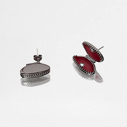 Design Forum – fly trap – Stahlgraue Ohrstecker