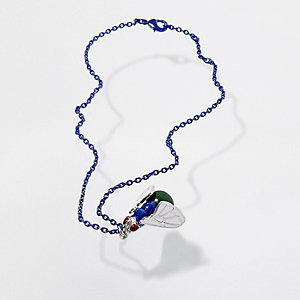 Blue Design Forum fly chain necklace