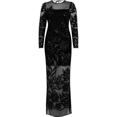 Zwarte lange jurk c&a