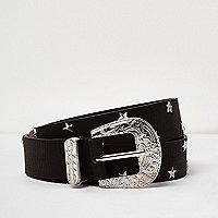 Black star studded western belt