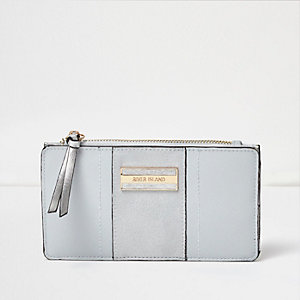Blue panel foldout purse