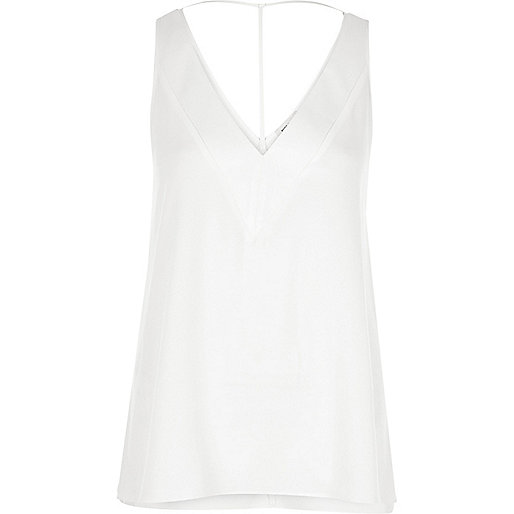 White T-bar cami top