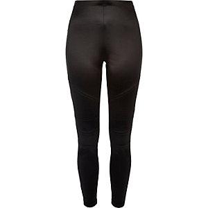Black biker leggings
