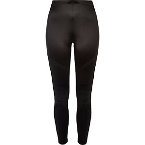 Black biker leggings