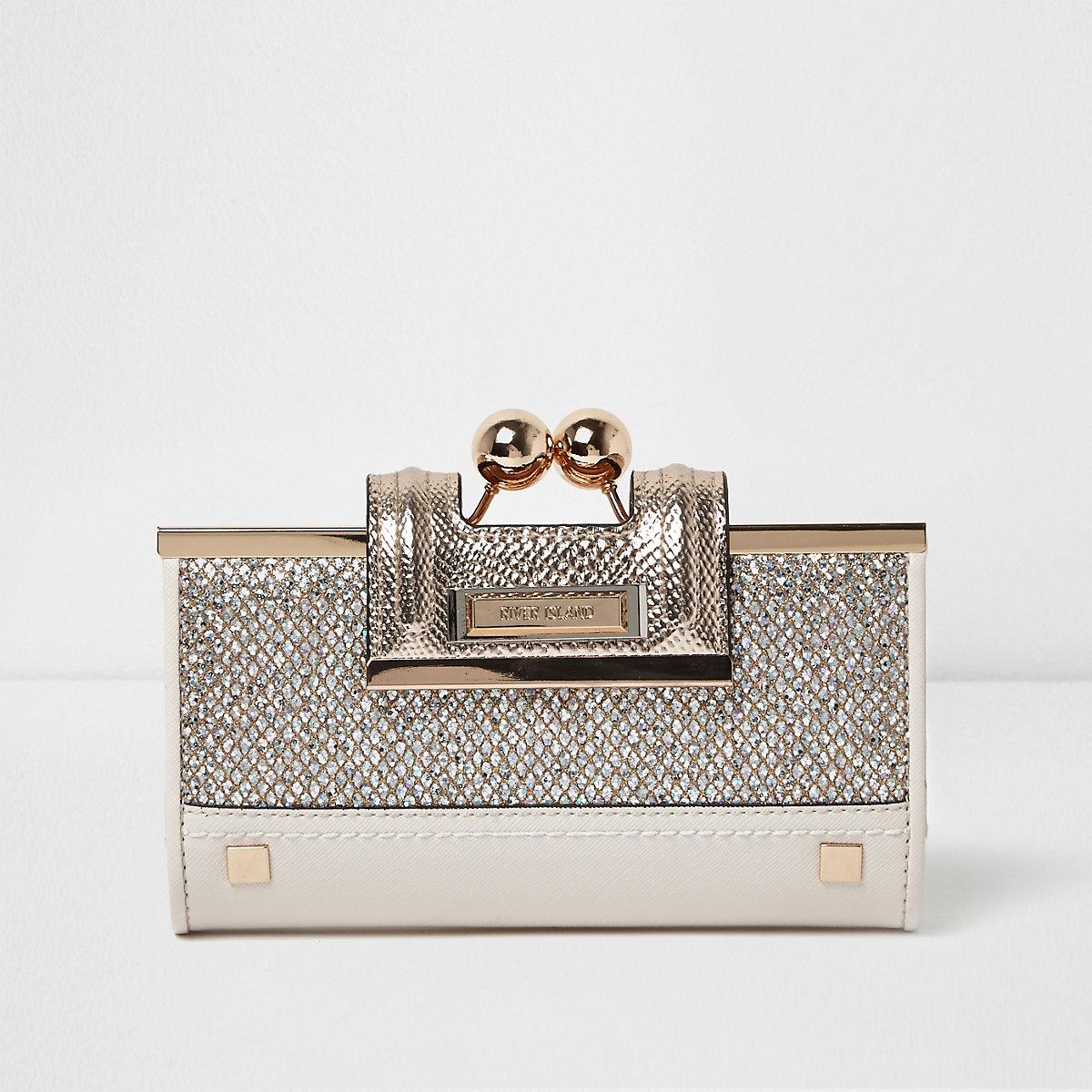 Gold glitter ball clip top purse - Purses - Bags   Purses - women fc89338b0829