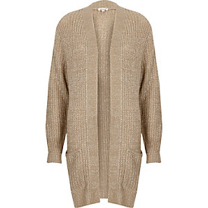 Beige knit sequin cardigan