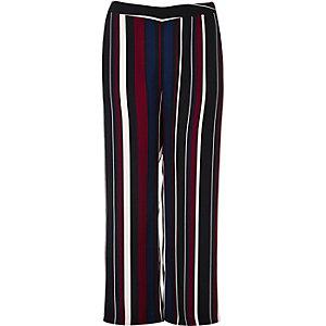 Pantalon Plus rayé noir doux
