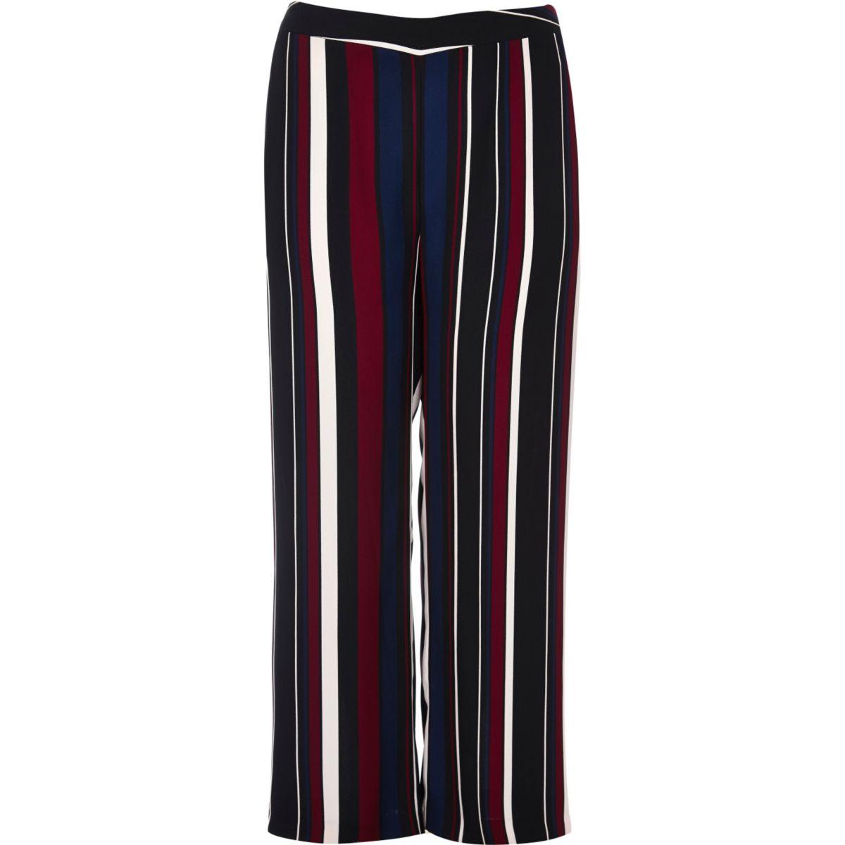 Plus black stripe soft trousers