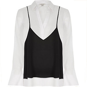 White shirt with cami top