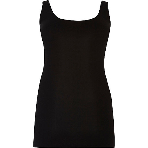 Plus black scoop neck vest