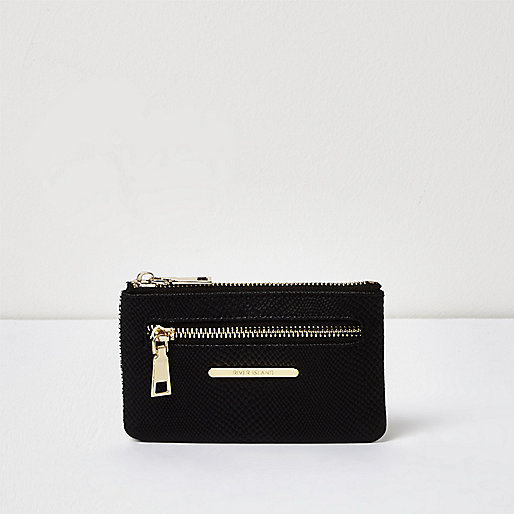 Black snake print mini purse