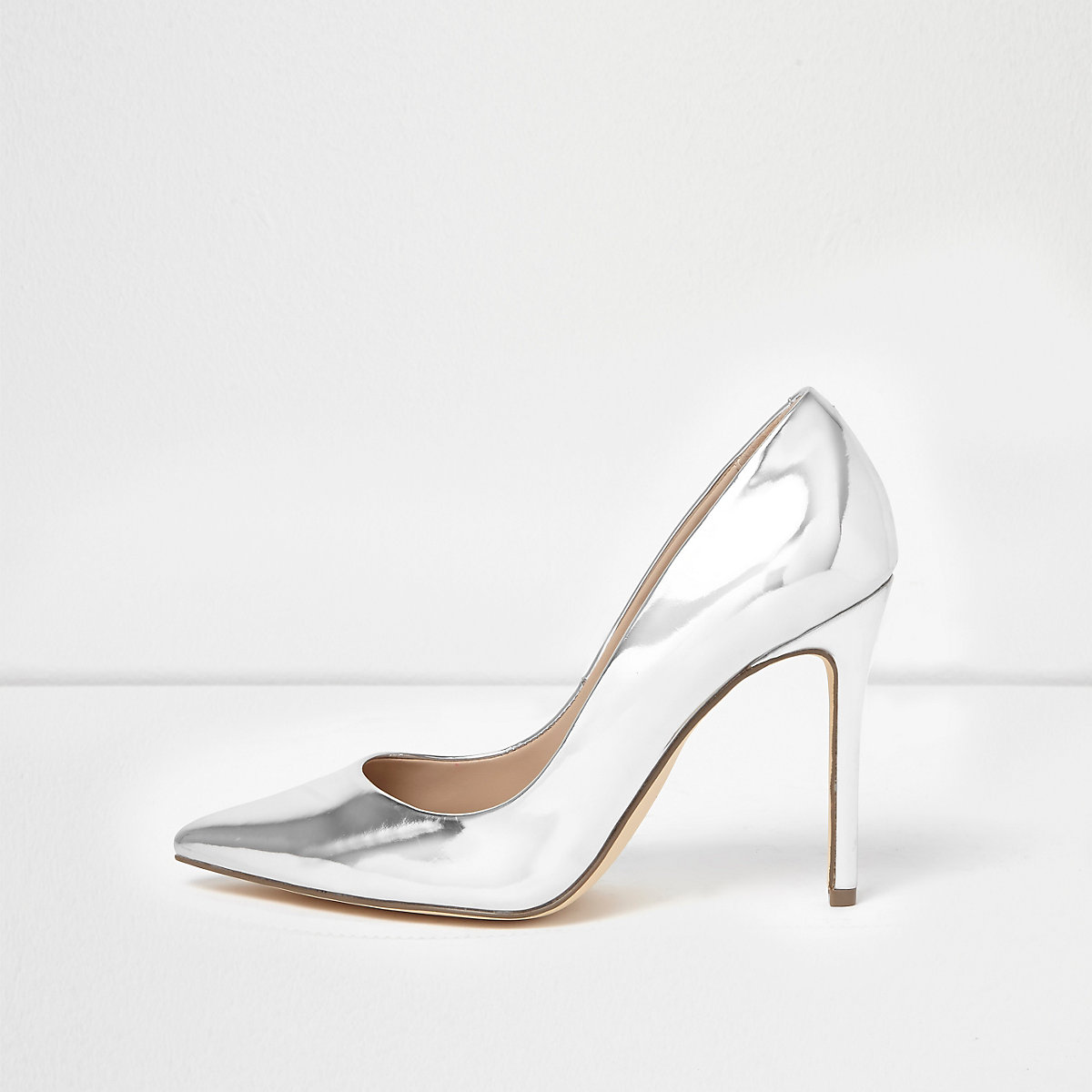 fd9ed88ddc30 Silver patent court shoes - Wedding Guest Dresses   Outfits - Sale ...
