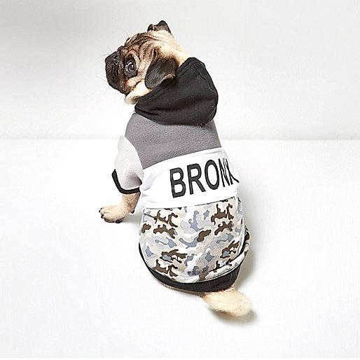 Sweat RI Dog camouflage kaki Bronx