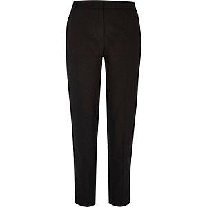 Black military slim fit trousers