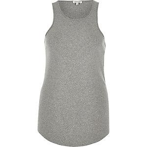 Grey racer back longline vest