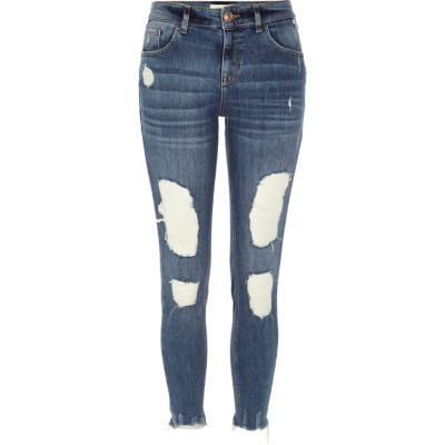 Alannah blauwe ripped relaxte skinny jeans