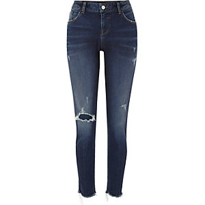 Dark wash Alannah relaxed skinny jeans