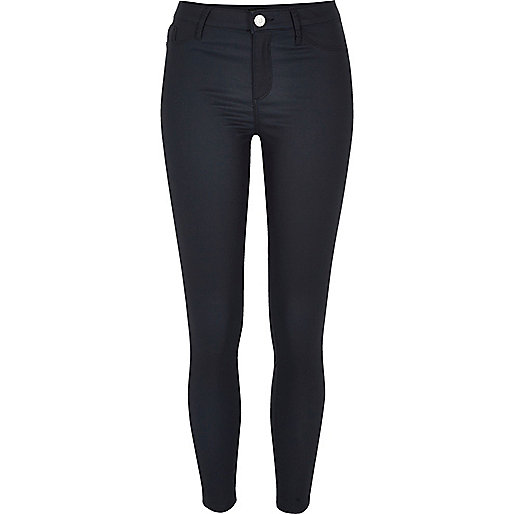 Navy coated Molly jeggings