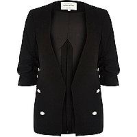 Black split back military blazer