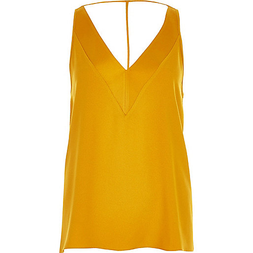 Yellow T-bar cami top