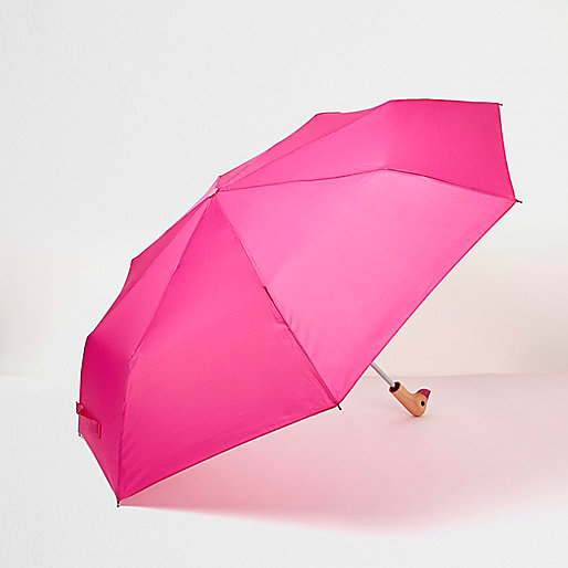 Fluorescent pink duck face umbrella