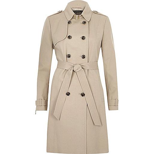 Beige tie waist trench coat - coats - coats / jackets - women