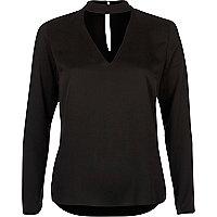 Black choker blouse
