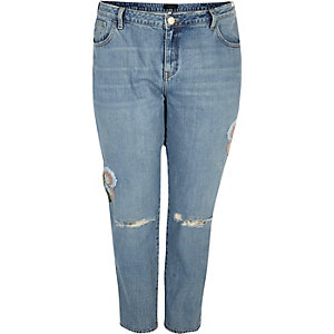 Plus blue floral Alannah relaxed jeans