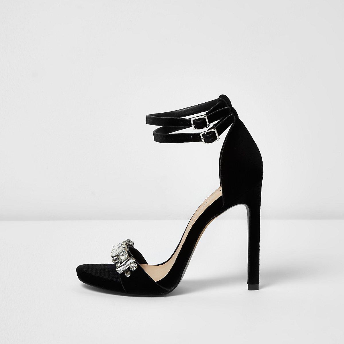 9985b2986ec2 Black velvet embellished sandals - Shoes   Boots - Sale - women