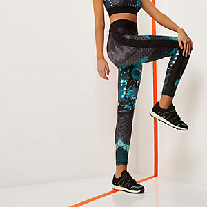 RI Active green printed gym leggings
