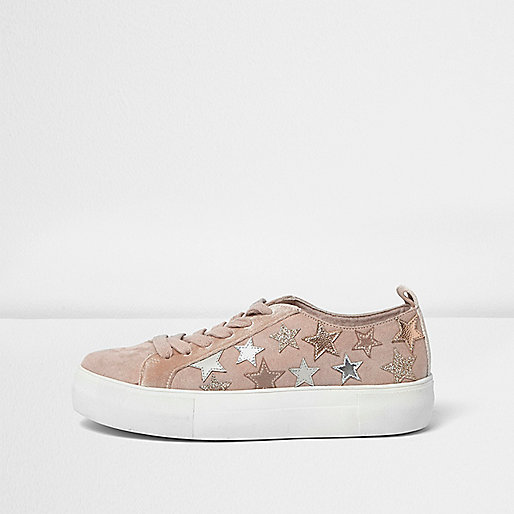 Pink sparkly star sneakers