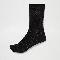 Schwarze Socken mit Biesen
