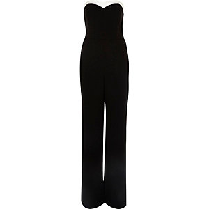 Black bandeau jumpsuit