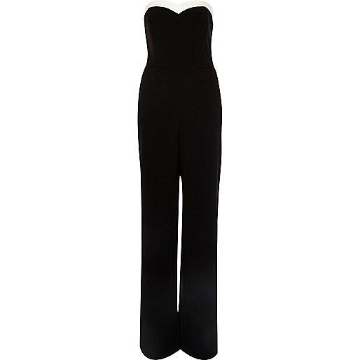 Black bandeau jumpsuit