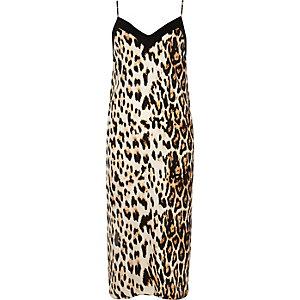 Leopard cami midi dress
