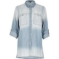 Faded blue oversized denim shirt