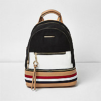 Black and white panel backpack
