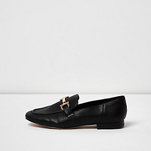 Black soft loafers