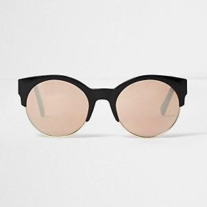 Black rose gold lens sunglasses