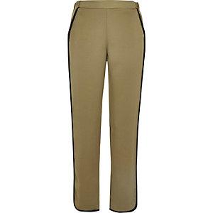 Khaki soft jogger trousers