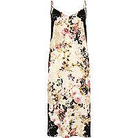 Beiges Kleid mit Blumenmuster