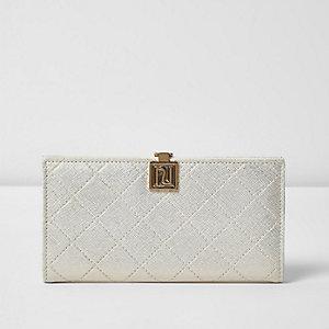 Gold folded clip top purse